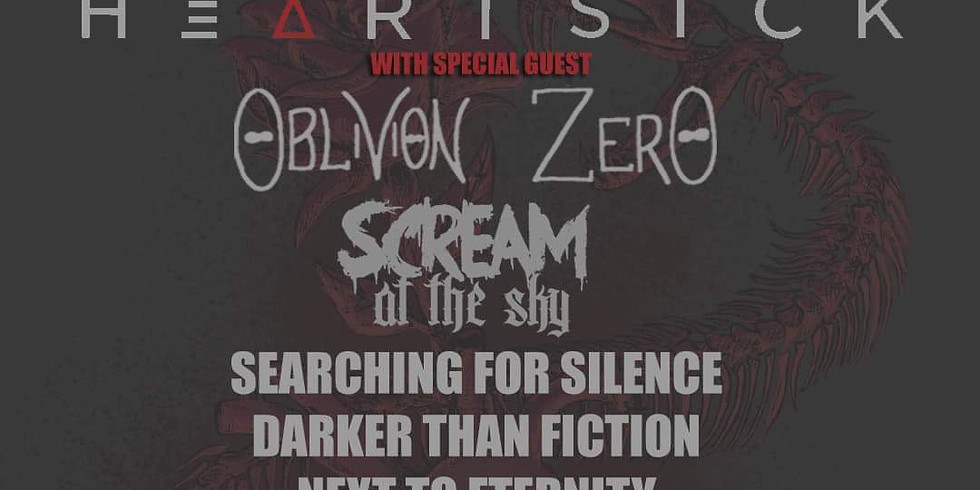 HEARTSICK   OBLIVION ZERO   SCREAM AT THE SKY   SEARCHING FOR SILENCE   DARKER THAN FICTION   NEXT TO ETERNITY