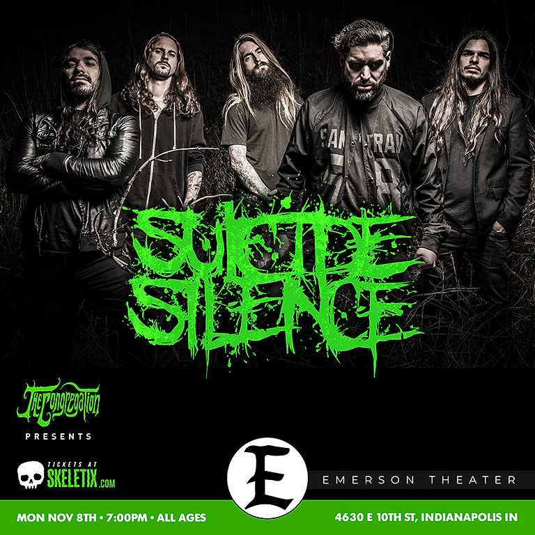 SUICIDE SILENCE   HUDSON HILL   DEATH ON FIRE   EYE OF MALICE