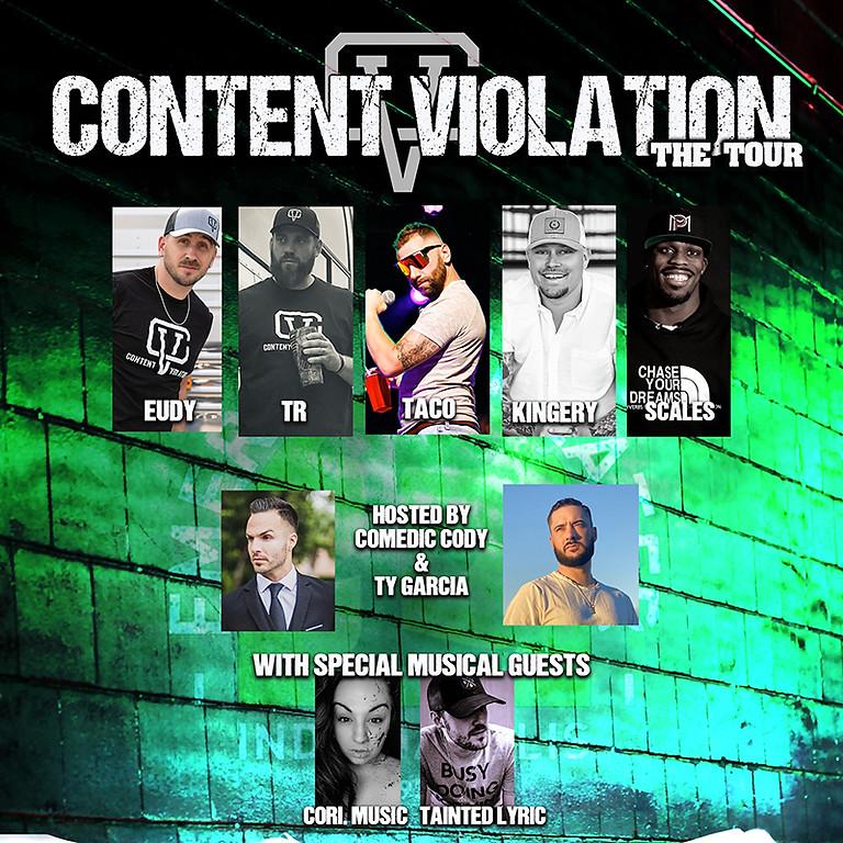 CONTENT VIOLATION TOUR