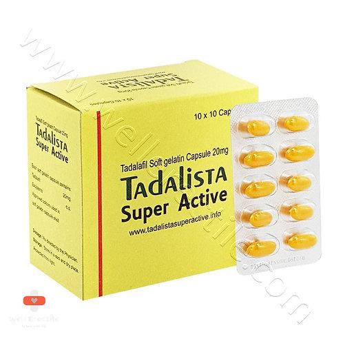 Tadalista Super Active 20mg (Tadalafil) – Soft Gelatin Capsules