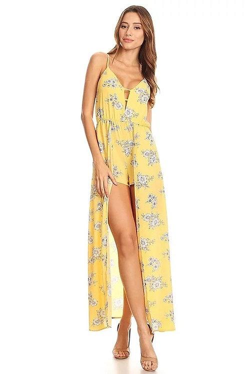 Maxi Vestido amarillo