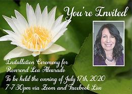 Installation Ceremony for Reverend Lea
