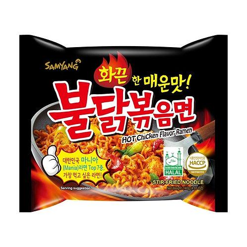 Extremely spicy chicken flavor ramen