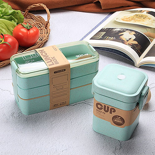 900ml 3 Layer Bento Boxes Microwaveable