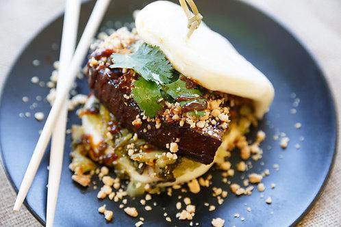 Classic Braised Pork Belly Bao Buns x5