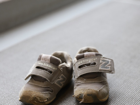 履き潰した靴。