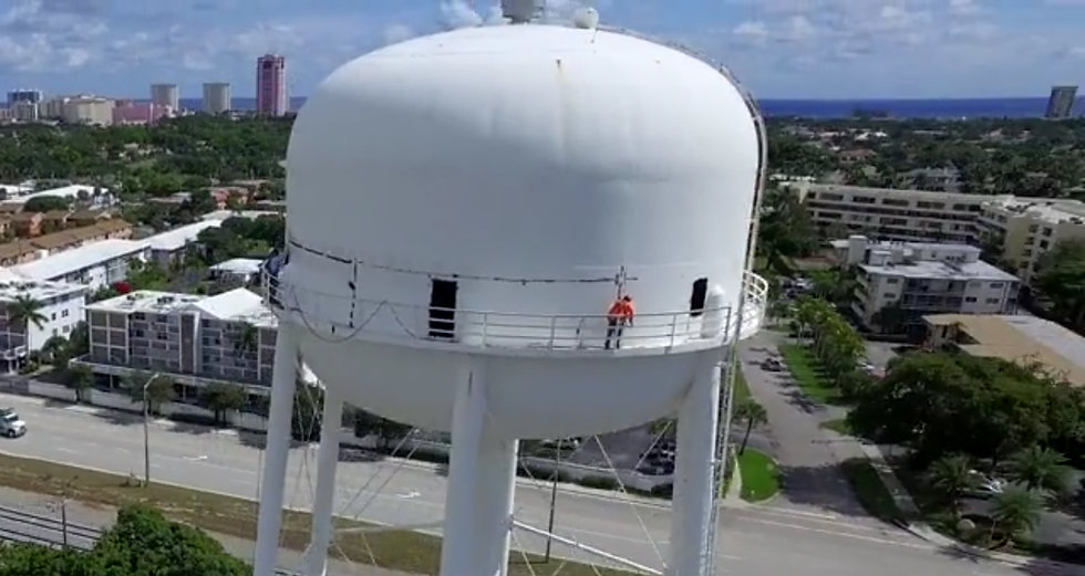 water tower - drone - aerial - apex air.