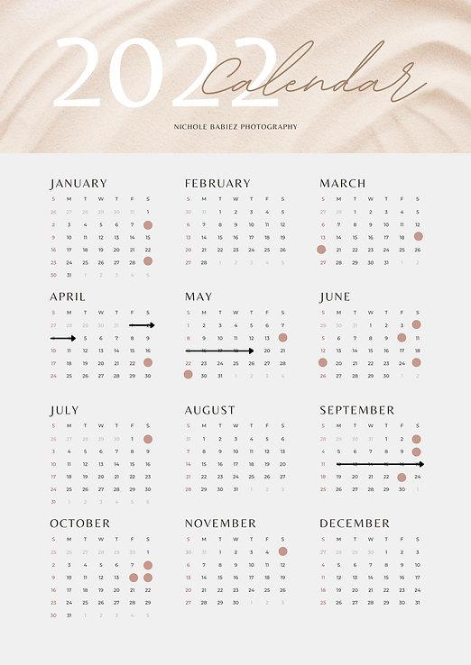Beige Simple and Elegant 2022 Calendar Poster.jpg