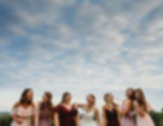Different perspective of the bridesmaid