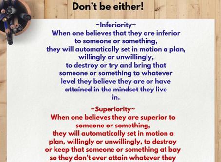 Superiority/Inferiority