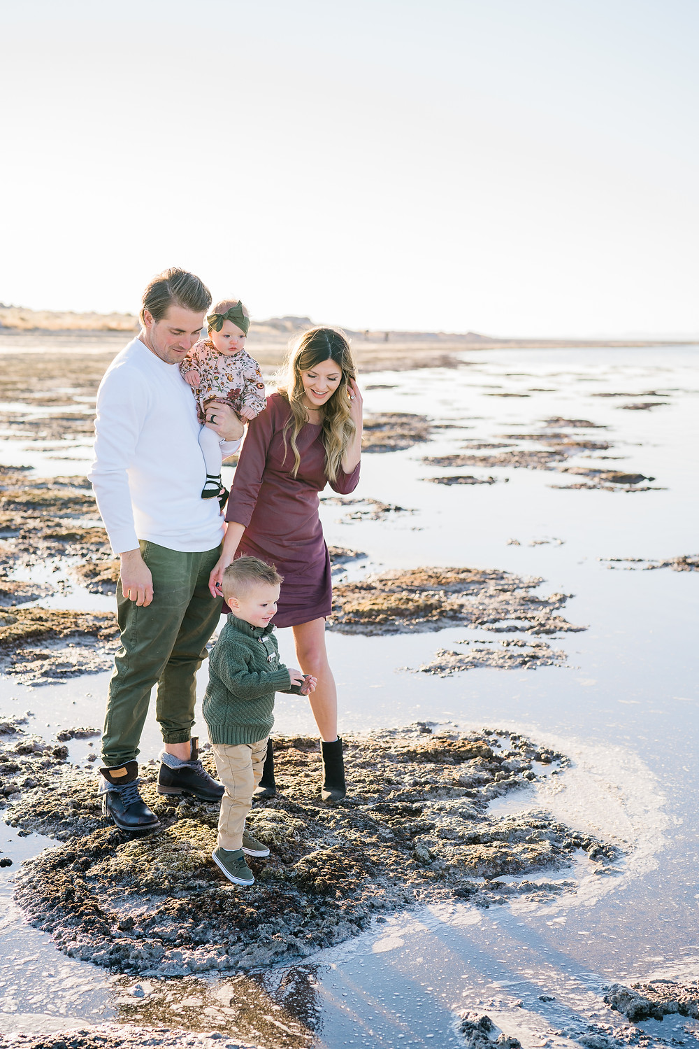 Family of Four at Antelope Island