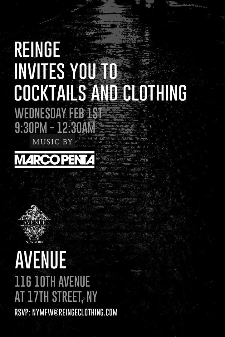Avenue NY Reinge NYFW EVENT