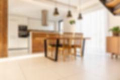 Floored Cleaned Kitchen Tile Beige