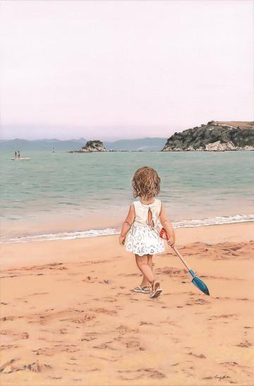 'Beach Baby'- SOLD Oil on Canvas 910mmx600mm