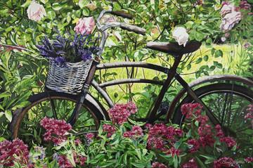 'Bike, Basket, Blossoms' - SOLD