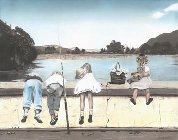 'Fishing' -print of original