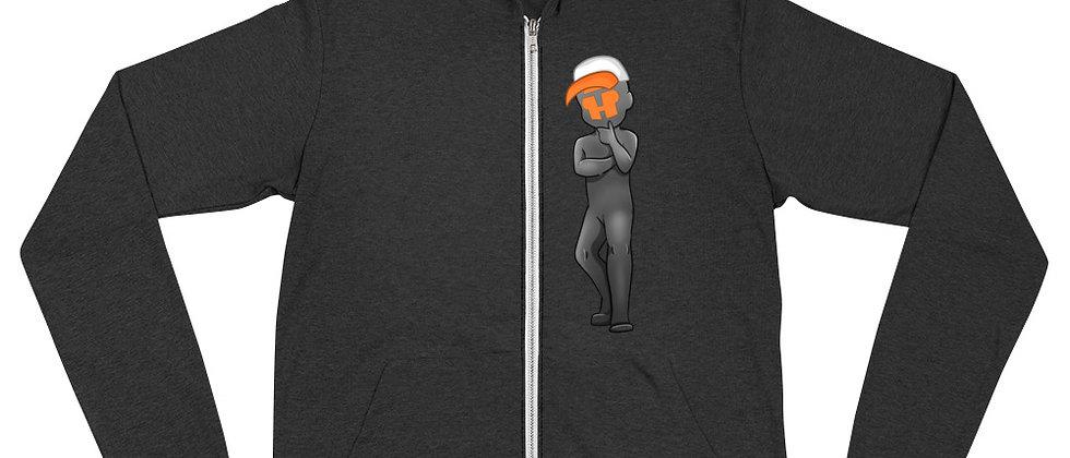 """""""Head Tilt Mascot"""" - Unisex zip hoodie"""