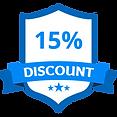 15% Discount Blue