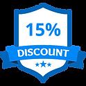 15% Korting Blue