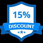 15 % 할인 블루