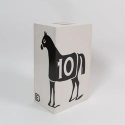 """Dylan Egon, """"Black 10 Horse Table St"""