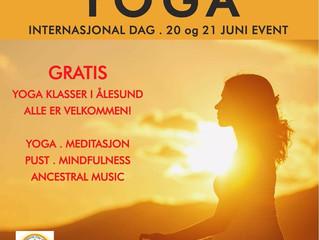 Bli med å feire Sommersolverv og Verdens Yogadag!