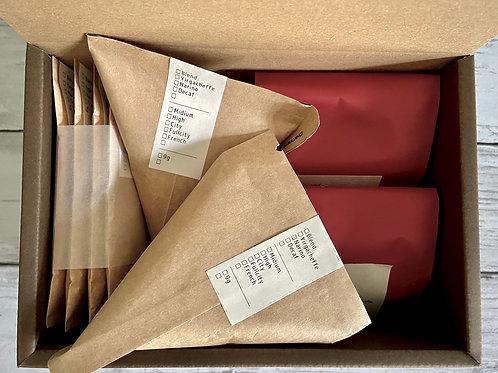 【夏季限定】NIJIYA coffee 自家焙煎豆ギフトセット | ニジヤブレンド/イルガチェフェ | B30-BDC-BY