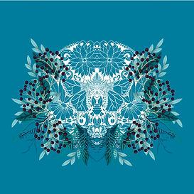 Graphics, illustration, digital, vector, custom, freelancer, instagram, art, trending,adobe, sketch, illustrator, photoshop, day of the dead, flower, skull, insect, blue, eyes, decoration, intricate, design