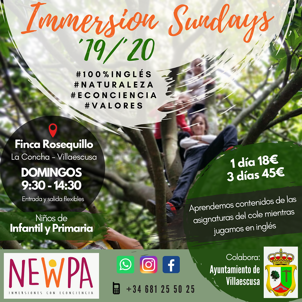 Immersion Sundays inglés niños domingos