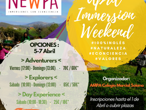 April Immersion Weekend + Sorteo!