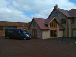 Barn House and Van