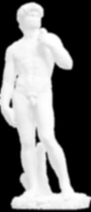 David Statue mit Mundschutz