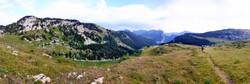 Massif Chartreuse depuis les hauts plateaux