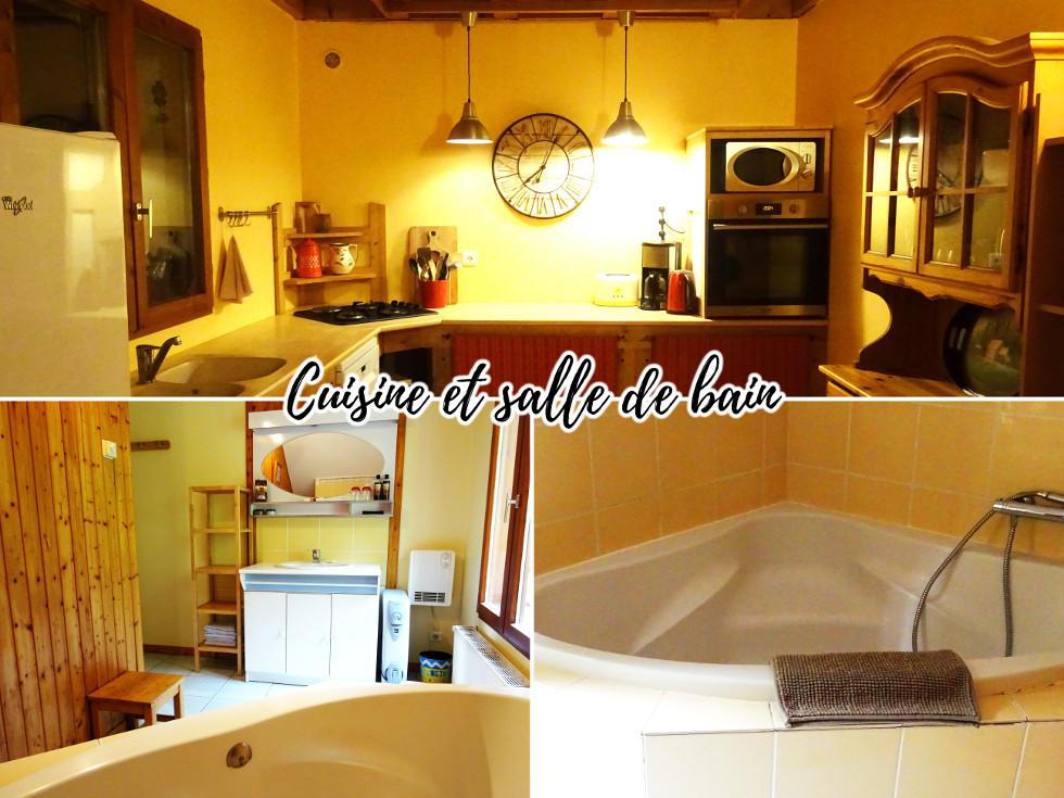 Gîte du Combet Cuisine et salle de bain