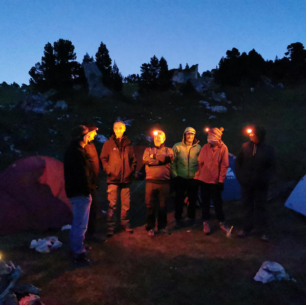 Petite soirée conviviale en pleine montagne