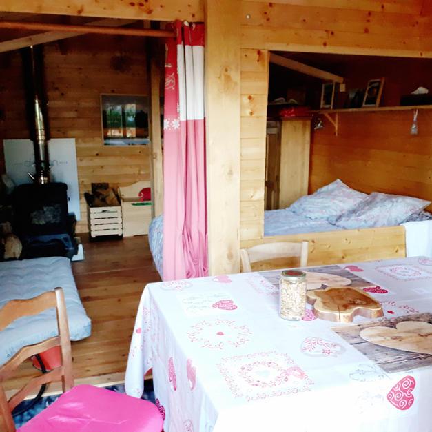 Cabane meublée tout confort