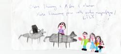 Randonnée à dos d'âne dessin enfant