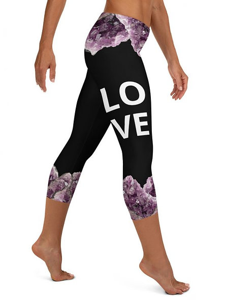 AMETHYST CLUSTER OF LOVE CAPRI LEGGINGS
