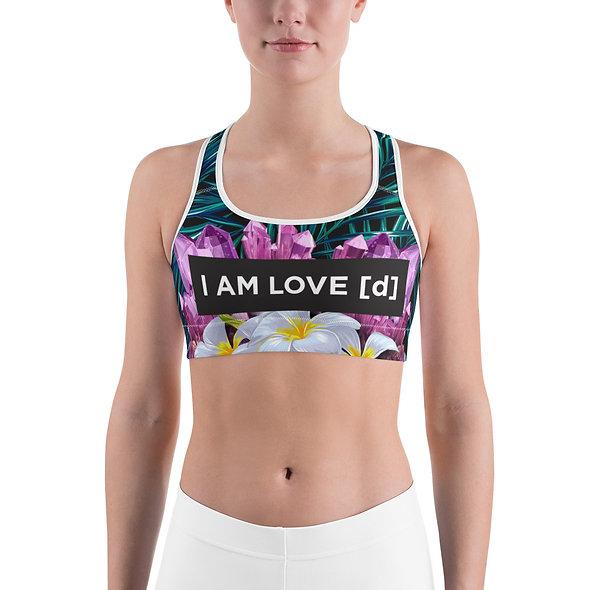 Amethyst Jungle Sports Bra made for yoga, gym, streetwear, fashion