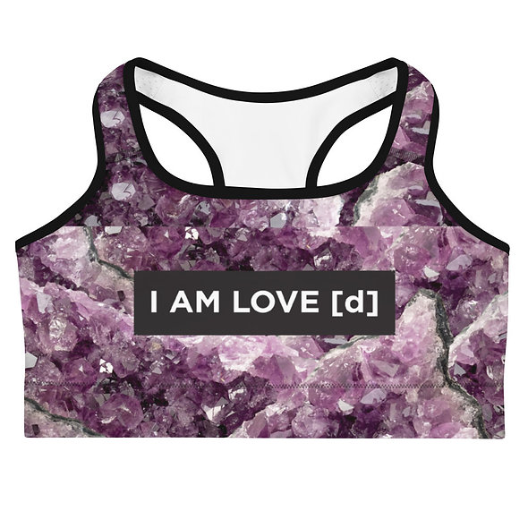 AMETHYST CRYSTAL SPORTS BRA