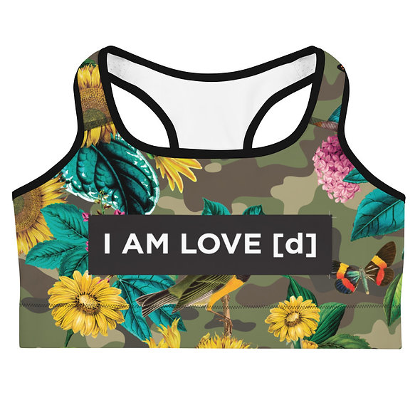 SUNFLOWER CAMOUFLAGE  SPORTS BRA