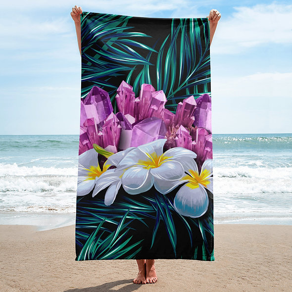 AMETHYST JUNGLE BEACH TOWEL