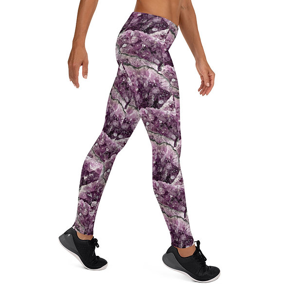 AMETHYST CRYSTAL LADIES LEGGINGS