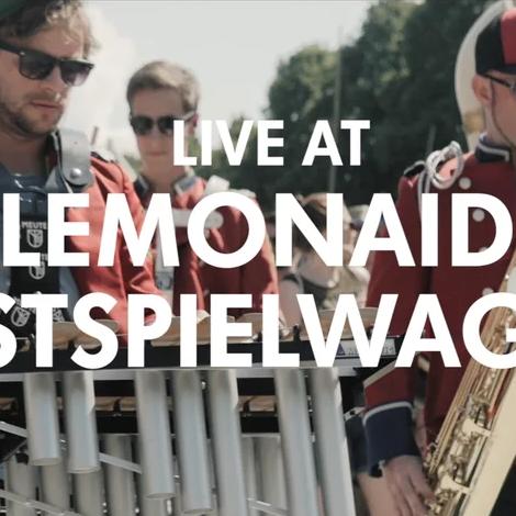 "MEUTE playing ""Kerberos"" by Stephan Bodzin & Marc Romboy live at Lunatic Festival on Lemonaid Festspielwagen"