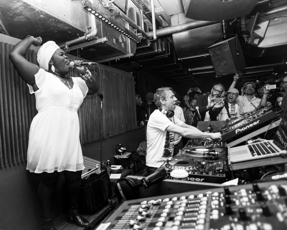 Gilles Peterson & Dayme Arocena at Prince Charles Berlin April 24th. Havana Club Rumba Sessions produced by Best Works