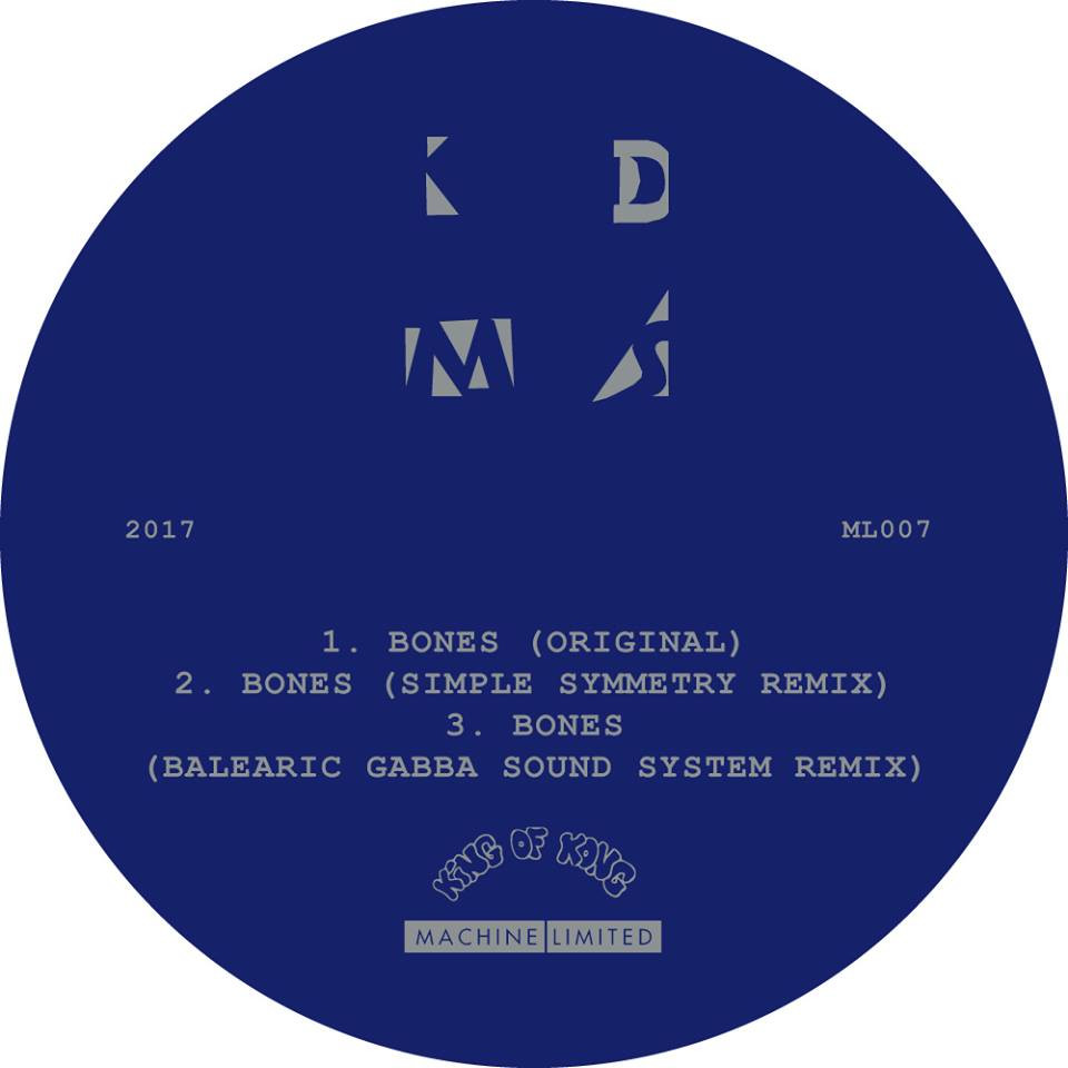 "New EP by The KDMS ""Bones"" out on Machine Limited"