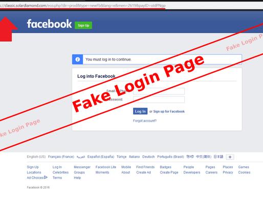 Facebook Email Scam Alert