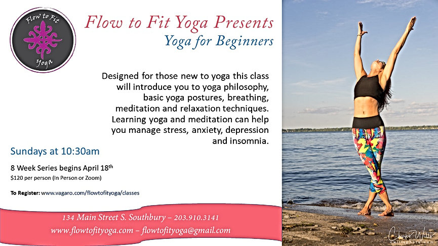 Flow to Fit Yoga Presents - yoga for beg