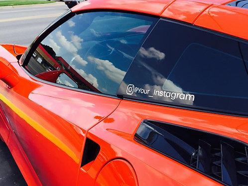 Instagram Car Decal