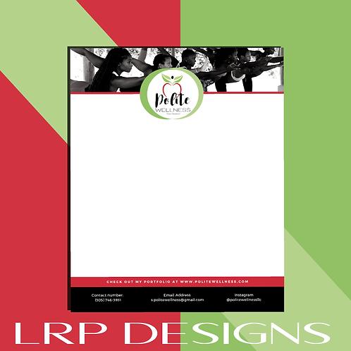 Letterhead + Envelope Design ($100)